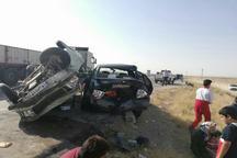 13 نفر در تصادف زنجیره ای قوچان مصدوم شدند