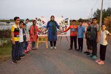 کودکان انزلی  'پرواز با رنگ ها' را تجربه کردند