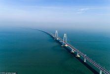 تصاویر/ افتتاح طولانی ترین پل دریایی جهان