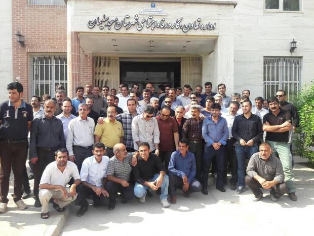 اعتراض کارگران کارخانه سیمان مسجد سلیمان به پرداخت نشدن حقوق خود