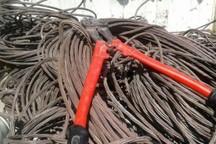 افزون بر چهار تن سیم برق قاچاق در رودبار جنوب کشف شد