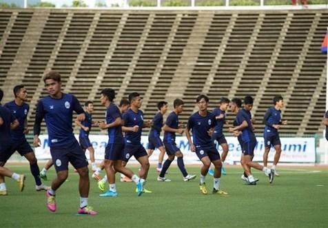 آخرین تمرین تیم ملی کامبوج پیش از دیدار با ایران