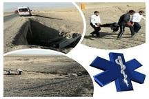 چهار زخمی، پیامد واژگونی خودرو در جاده بافق- یزد