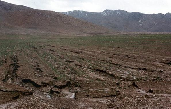 باز باران با فرسایش بهاری خاک