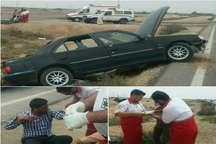 چهار مصدوم در یک حادثه رانندگی در خوزستان