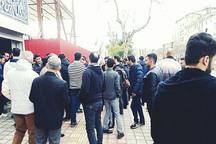 هوداران سپیدرود رشت در ورزشگاه عضدی تجمع کردند