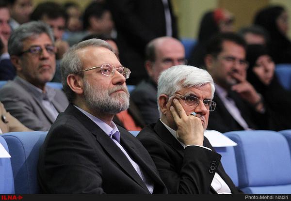 احتمال ضعیف رقابت مجدد عارف و لاریجانی