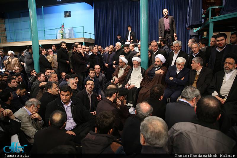 مراسم وداع با پیکر آیت الله هاشمی رفسنجانی(ره) در حسینیه جماران-4