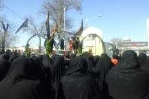 مردم شیروان از سه شهید گمنام دوران دفاع مقدس استقبال کردند