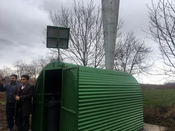 نصب دستگاه ضد تگرگ در اراضی جهانآباد شهرستان البرز
