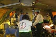 بیمارستان صحرایی دربخش ارم دشتستان راه اندازی شد