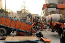 برخورد خاور با تریلر در جاده زنجان 2 کشته برجا گذاشت