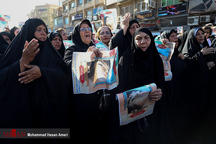 مجموعه تصاویر تشییع شهدای حادثه تروریستی اهواز