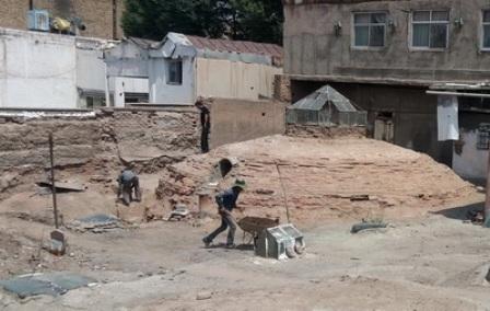 مرمت و ساماندهی گرمابه تاریخیخان در قزوین آغاز شد