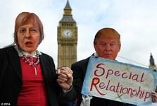 عکس/ «رابطه خاص» ترامپ با خانم نخست وزیر