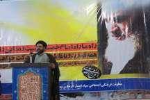 آیین بزرگداشت ارتحال امام خمینی (ره) در شهرستان درمیان برگزار شد