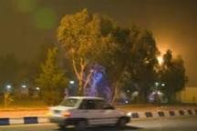 گرد و غبار در آسمان آباده  کاهش دید افقی به 4 کیلومتر