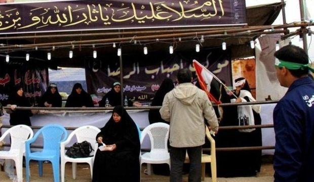 عاشقان حسینی 14 موکب پذیرایی در بافق برپا کردند