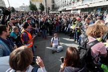 دستگیری800 تن از مخالفان دولت در پایتخت روسیه+تصاویر