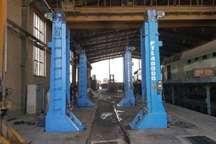 نصب جک های 160 تنی در راه آهن هرمزگان