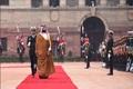 فرش قرمز هند برای بن سلمان و استقبال از او بر خلاف پروتکل+تصاویر