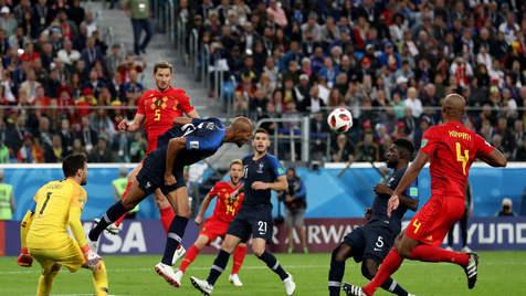 فرانسه اولین فینالیست جام بیست و یکم/ بلژیک به رده بندی رفت