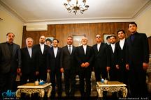 حضور وزیر امور خارجه در سر کنسولگری ایران در نخجوان