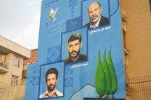 یادمان های انقلاب بر دیوارهای همدان نقش می بندد