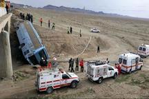 واژگونی اتوبوس در کرمان یک کشته و 23 مصدوم بر جا گذاشت