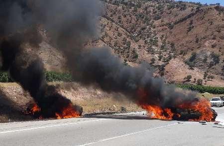 2 کشته و 2 مجروح در تصادف 2 پراید در محور پلدختر - خرم آباد