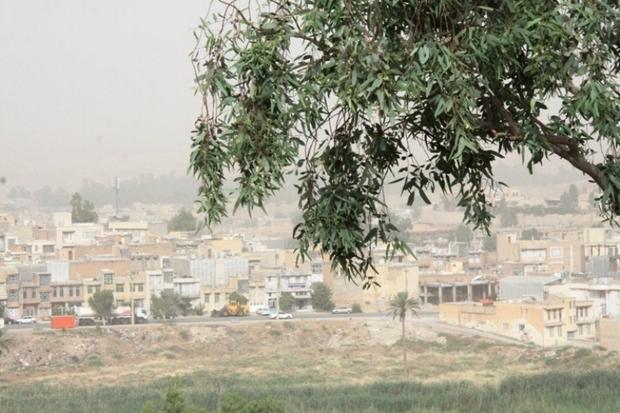 آسمان قصرشیرین غبار آلود شد