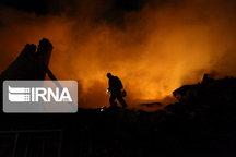 آتش سوزی انبار ضایعات در زنجان مهار شد