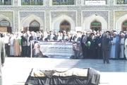 تشییع پیکر آیت الله معصومی در مشهد