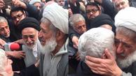 اشکهای آیت الله امجد در مراسم وداع با پیکر آیت الله هاشمی رفسنجانی