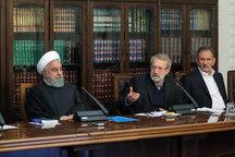 ارسال قانون بودجه ۹۸ از سوی لاریجانی به روحانی