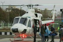 انتقال هوایی6 مصدوم به  بیمارستان در البرز