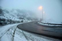 نخستین برف پاییزی در قزوین باریدن گرفت