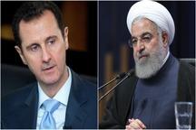 پیام تسلیت بشار اسد به حسن روحانی در پی حمله تروریستی در اهواز