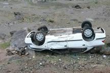 واژگونی پژو چهار نفر را روانه بیمارستان کرد