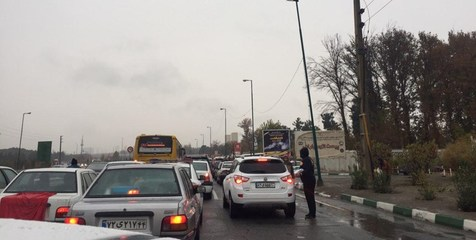 ترافیک فوق سنگین هراز را قفل کرد
