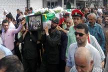 پیکر پدر شهیدان محمدزاده در محمودآباد تشییع شد