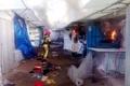 2 مصدوم در آتشسوزی بازارچه پونه کرج  علت حادثه در دست بررسی است