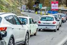 ترافیک نیمه سنگین در مسیر شمال به جنوب جاده چالوس