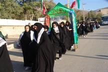 اعزام 270 دانش آموز دختر اراک به مناطق عملیاتی دفاع مقدس