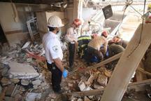 2 کشته و یک مجروح در حادثه ریزش واحد مسکونی در مشهد +تصاویر