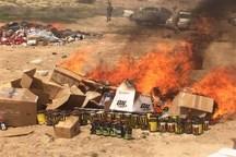امحای بیش از 4میلیارد ریال مواد نیروزای قاچاق در بندرلنگه