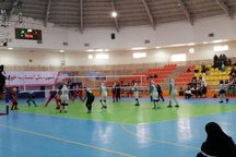 اولین روز مسابقات والیبال دسته اول بانوان در قزوین برگزار شد