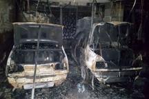 آتش سوزی 3 دستگاه خودرو در پارکینگ در ساختمانی تبریز
