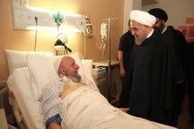 رئیس جمهوری از نماینده ولی فقیه در گلستان عیادت کرد
