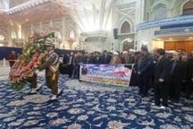 دبیرکل و مسئولان مجمع جهانی اهل بیت(ع) با امام راحل تجدید میثاق کردند